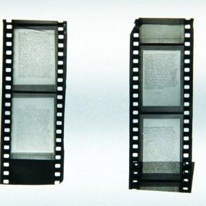 Dokumenty w formie mikrofilmów. Ich niewielkie rozmiary umożliwiały schowanie w małych skrytkach, fot. ze zbiorów Muzeum Powstania Warszawskiego