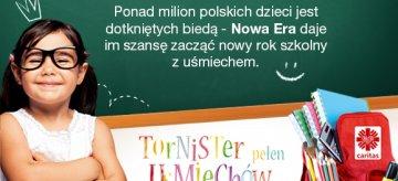 """Nowa Era wspiera akcję """"Tornister pełen Uśmiechów"""""""