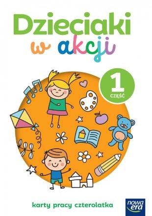 Dzieciaki w akcji. 4-latki. Karty pracy, część 1