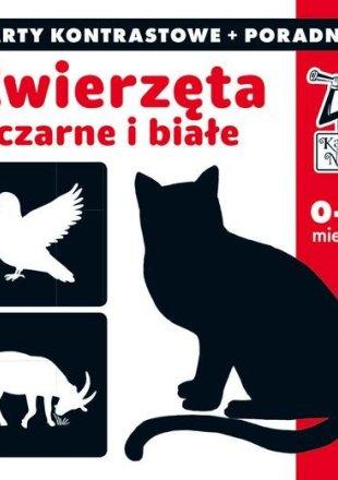 Kapitan Nauka Zwierzęta czarne i białe Karty kontrastowe + poradnik