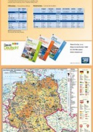 Mapa Niemiec, Austrii, Szwajcarii / Tabele gramatyczne