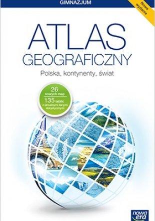 Atlas geograficzny Polska, kontynenty, świat