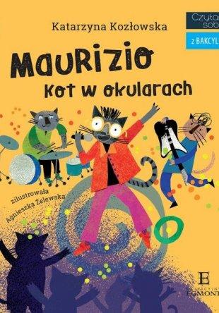 Czytam sobie z Bakcylem Maurizio Kot w okularach